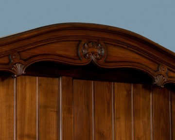 detail, antique french provincial cherry wood vaisellier