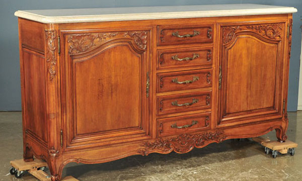 Marble Top Buffet ~ French provincial marble top buffet clark antiques