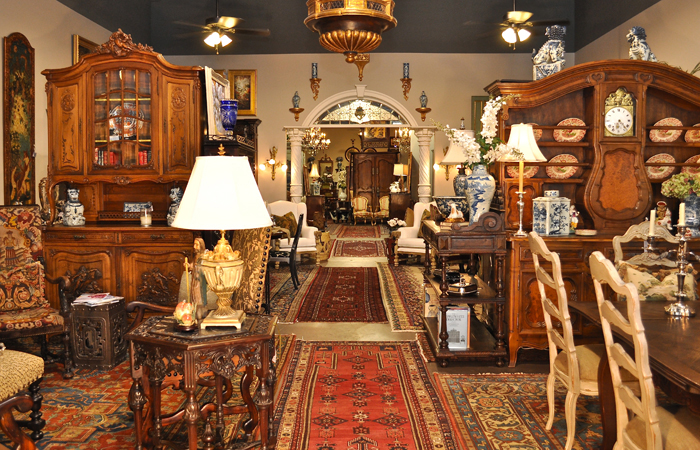 Clark Antiques Gallery, full of fine French and English antiques from the 18th and 19th centuries