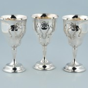 Gorham Chantilly silver water goblets