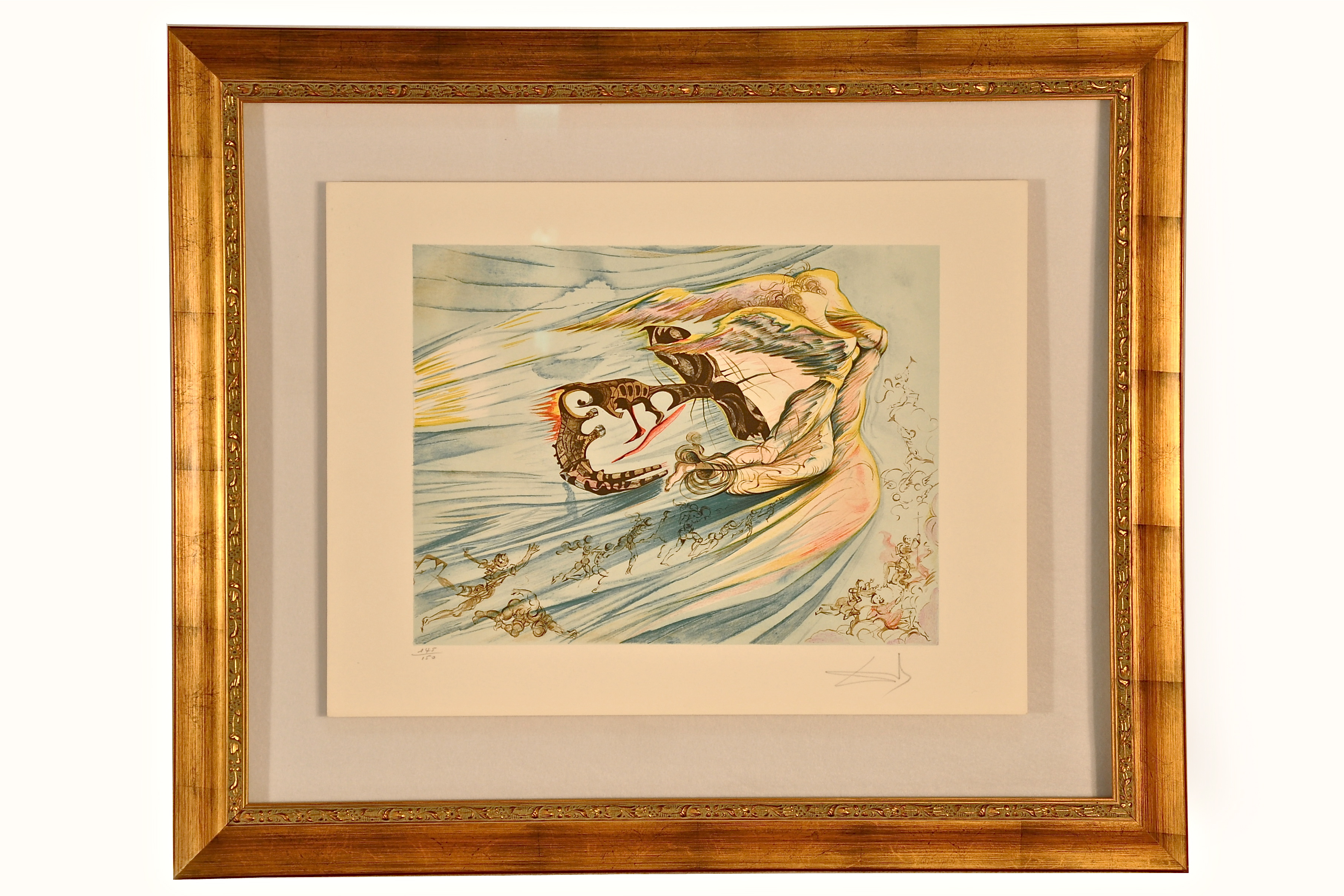 Authentic Lithograph by Salvador Dali - \