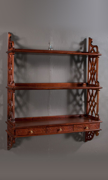 Hanging Wall Shelf chippendale hanging wall shelf - clark antiques gallery — clark