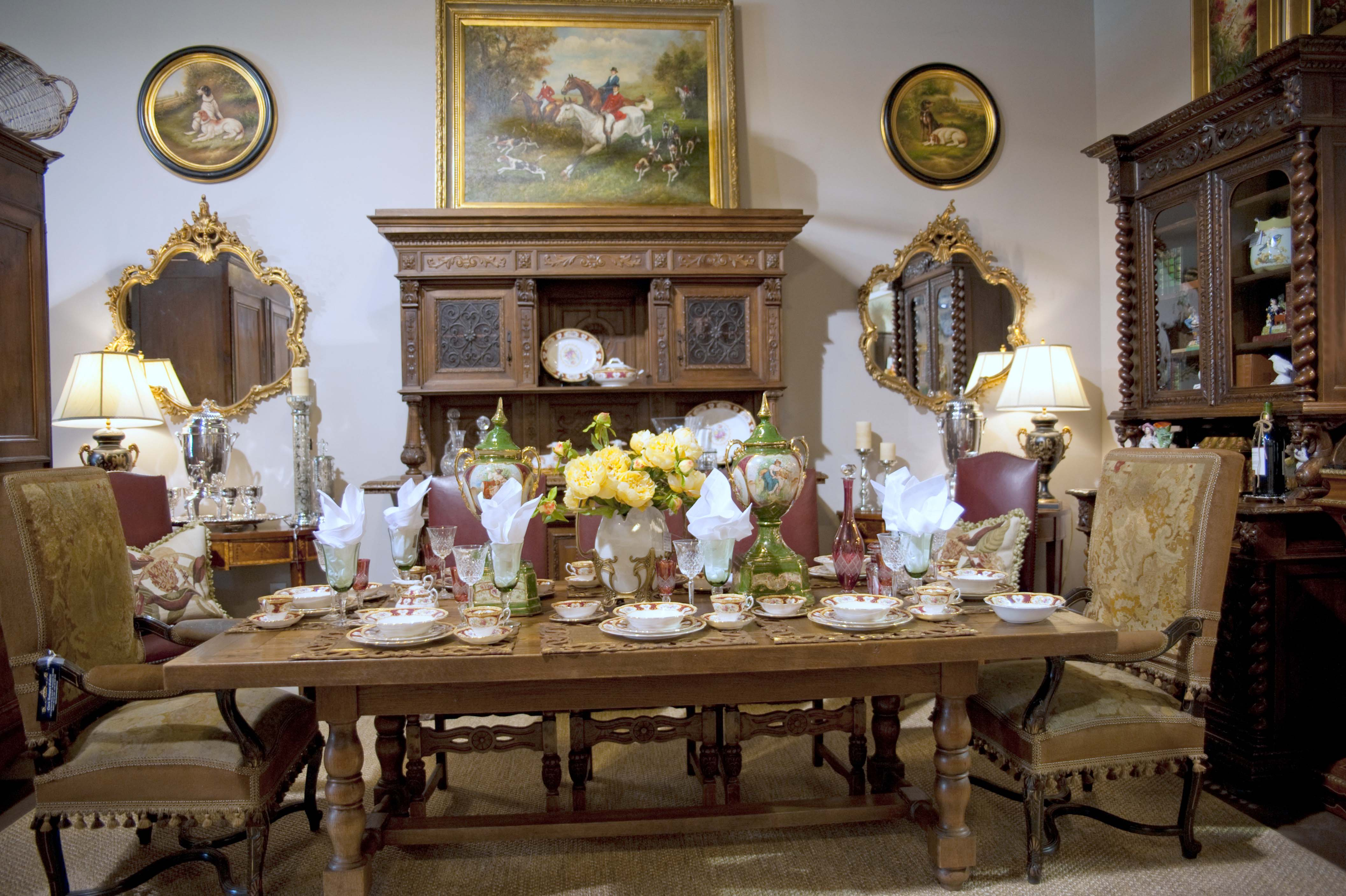 Classic Country French Dining Room - Clark Antiques Gallery ...