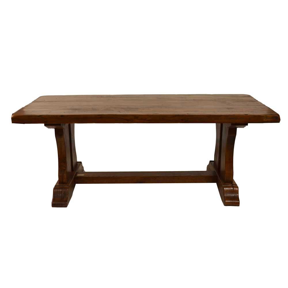 English Trestle Table Clark Antiques Gallery Clark  : OakTrestleTableB from clarkantiquesgallery.com size 1000 x 1000 jpeg 22kB