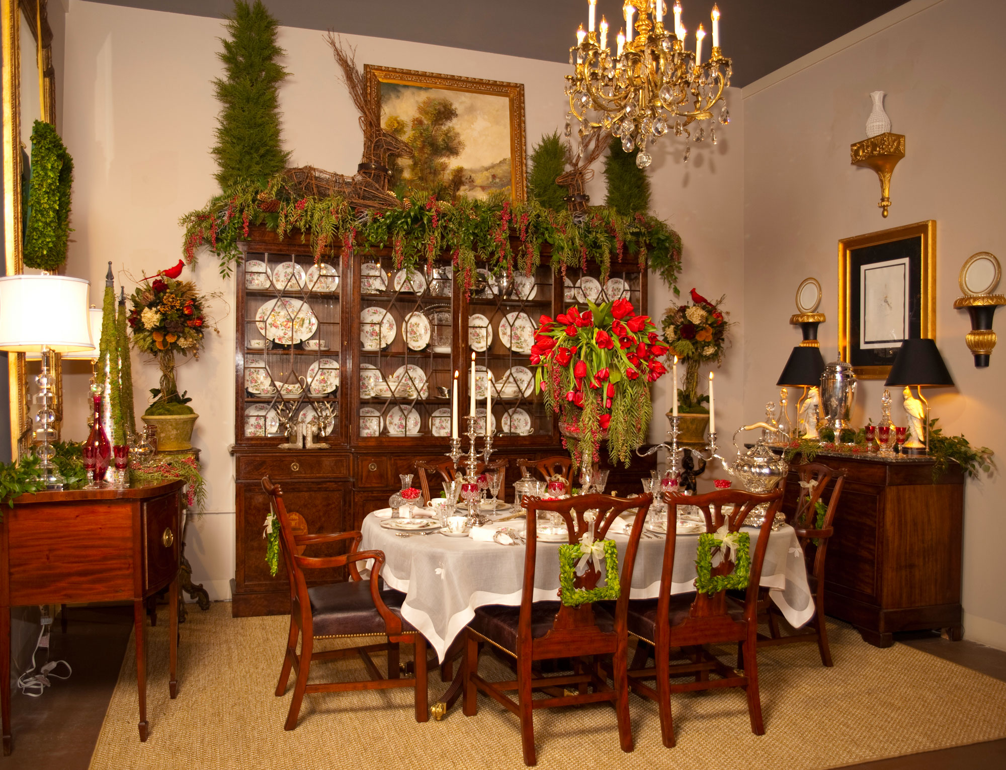 A Christmas Tablescape Clark Antiques Gallery Clark