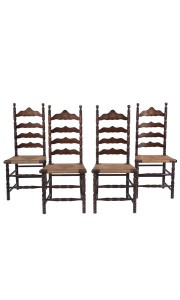 Set of 4 English Ladder Back Chairs
