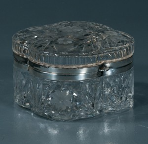 antique crystal box