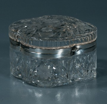 antique crystal box