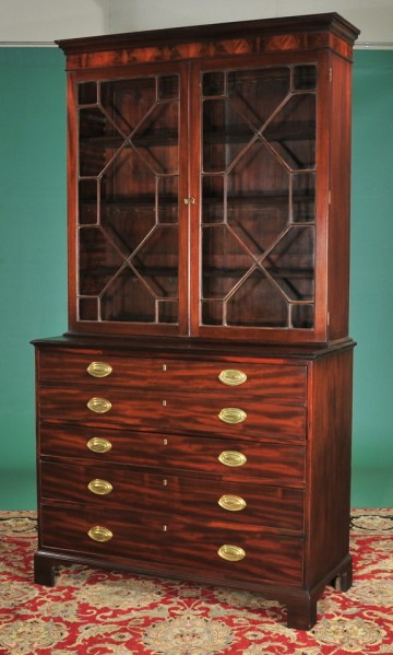 antique secretaire with brass fittings