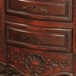 carving detail, oaksideboard