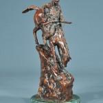 Bronze sculpture, Indian onhorseback
