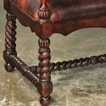 Roped leg detail, leathersettee
