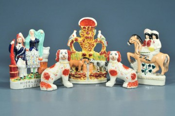 reproductions of antique Staffordshire figurines