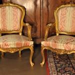 Gilded Louis XV-stylefauteuils