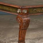Carved leg detail, Regency-style bureauplat