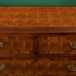 Cross-banded top, English oak and oysterwoodchest