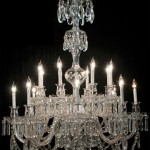 Two-tier cut crystal chandelier with 16lights