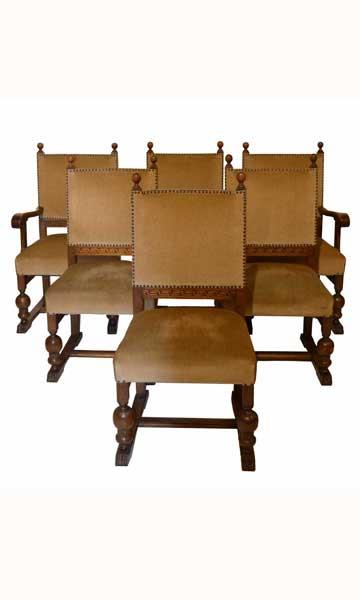 18th-C. English Tudor Chairs, S/6