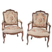 Louis XV Walnut Fauteuils
