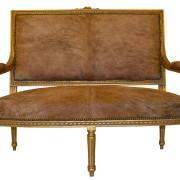 Louis XVI Cowhide Settee