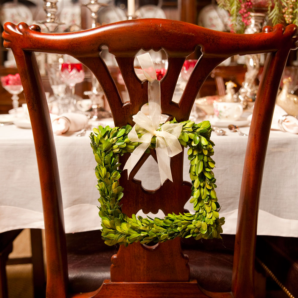 Christmas Tablescape Chair Detail