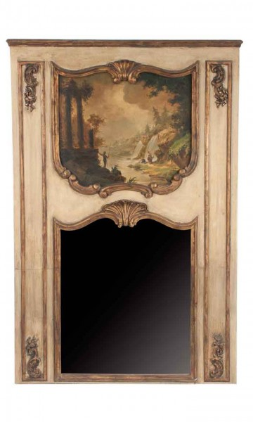 Gilded Trumeau Mirror