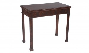 Chinese Chippendale game table