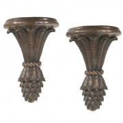 Pair of French Bronze Wall Brackets