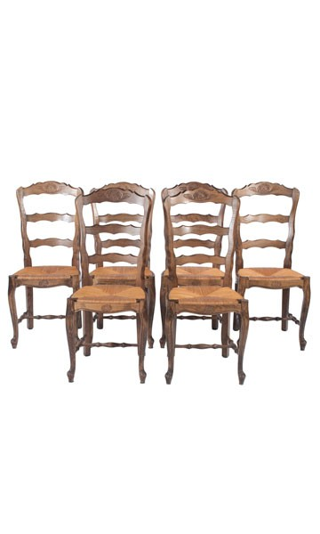 Country French Rush Bottom Chairs