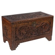 Asian Hand Carved Trunk
