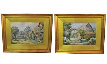 Pair of Watercolor Prints