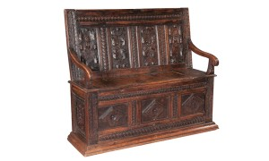 English-Oak-Hall-Bench